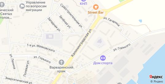 Калининградская улица в Светлом с номерами домов на карте. Спутник и схема онлайн