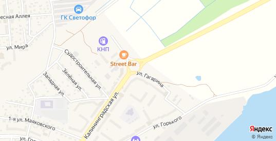 Улица Гагарина в Светлом с номерами домов на карте. Спутник и схема онлайн