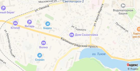 Улица Сказочника Гофмана в Светлогорске с номерами домов на карте. Спутник и схема онлайн