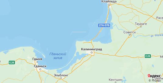 Карта Светлогорского района Калининградской области с городами и населенными пунктами