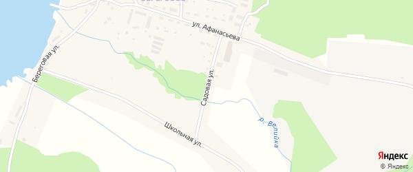 Садовая улица на карте Ладушкина с номерами домов