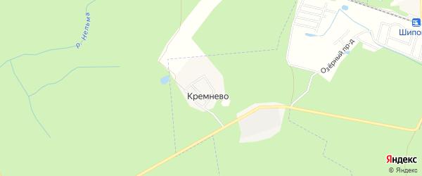 Карта поселка Кремнево города Светлого в Калининградской области с улицами и номерами домов