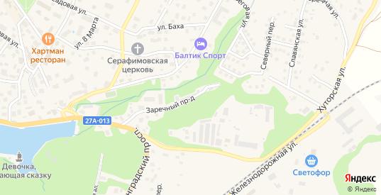 Заречный проезд в Светлогорске с номерами домов на карте. Спутник и схема онлайн