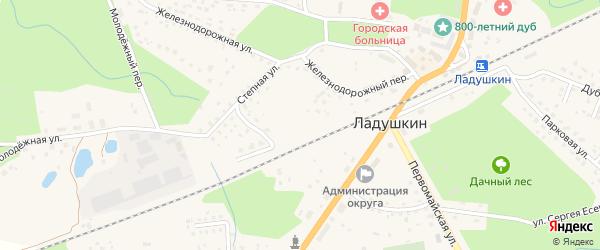 Улица Военный городок на карте Ладушкина с номерами домов