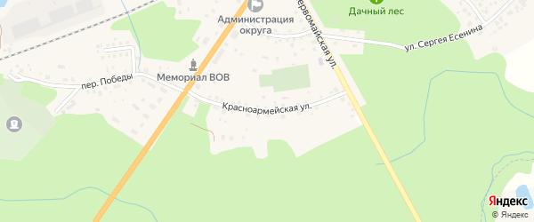 Красноармейская улица на карте Ладушкина с номерами домов