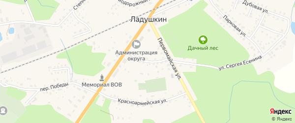 Октябрьская улица на карте Ладушкина с номерами домов