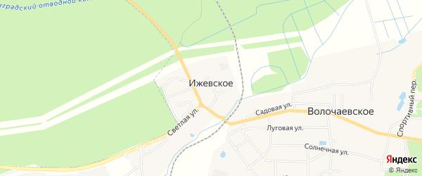 Карта поселка Ижевского города Светлого в Калининградской области с улицами и номерами домов