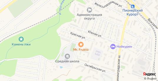 Флотская улица в Пионерском с номерами домов на карте. Спутник и схема онлайн