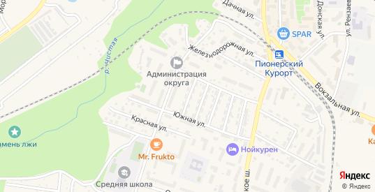 Улица Меркулова в Пионерском с номерами домов на карте. Спутник и схема онлайн