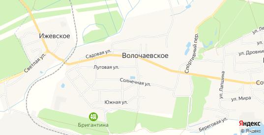 Карта поселка Волочаевское в Светлом с улицами, домами и почтовыми отделениями со спутника онлайн