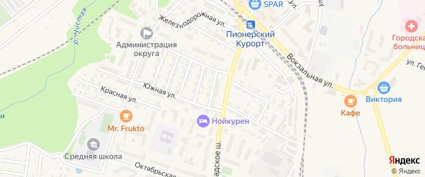 Улица Смолькова на карте Пионерского с номерами домов