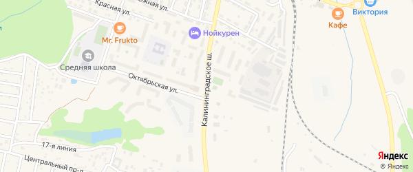 Калининградское шоссе на карте Пионерского с номерами домов