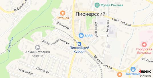 Городок Военный 1 в Пионерском с номерами домов на карте. Спутник и схема онлайн
