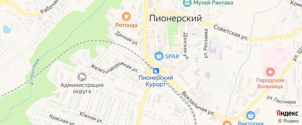 Морская улица на карте Пионерского с номерами домов