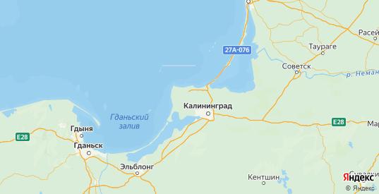 Карта Зеленоградского района Калининградской области с городами и населенными пунктами
