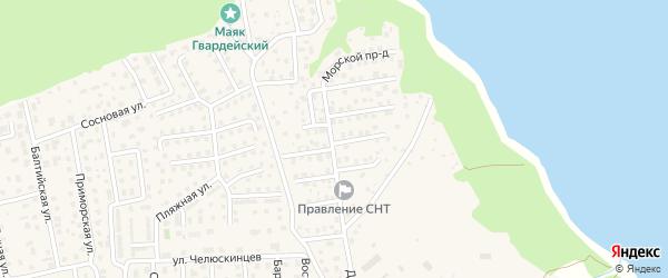 Саперный проезд на карте территории Флотского Калининградской области с номерами домов
