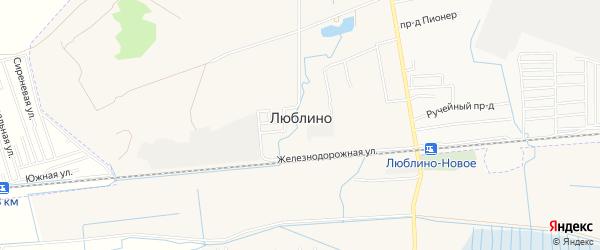 Карта поселка Люблино города Светлого в Калининградской области с улицами и номерами домов