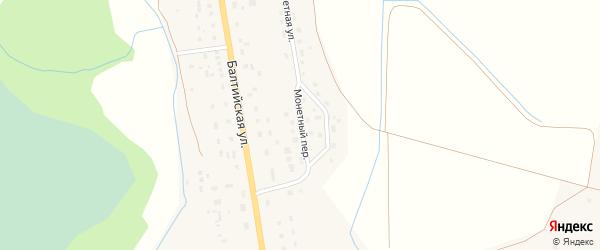 Монетный переулок на карте поселка Коврово Калининградской области с номерами домов