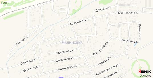 Степная улица в поселке Малиновка в Зеленоградске с номерами домов на карте. Спутник и схема онлайн