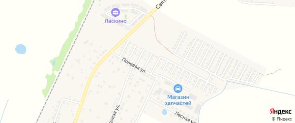 13-ая Янтарная улица на карте поселка Ласкино Калининградской области с номерами домов