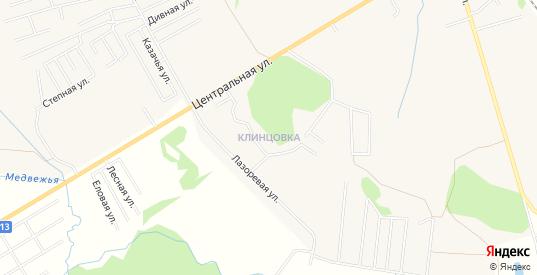 Карта поселка Клинцовка в Зеленоградске с улицами, домами и почтовыми отделениями со спутника онлайн
