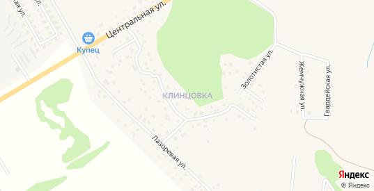 Главная улица в поселке Клинцовка в Зеленоградске с номерами домов на карте. Спутник и схема онлайн