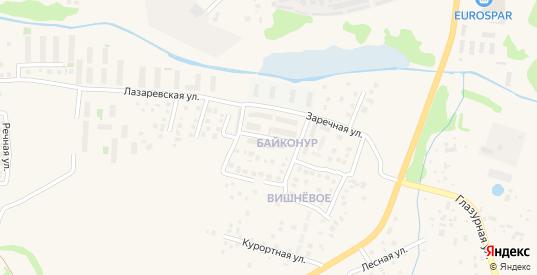 Звездная улица в поселке Вишневое в Зеленоградске с номерами домов на карте. Спутник и схема онлайн
