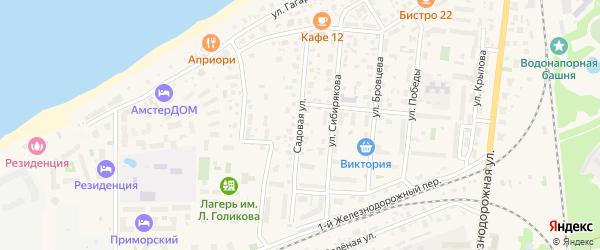 Садовая улица на карте Зеленоградска с номерами домов