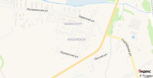 Лиственная улица в поселке Вишневое в Зеленоградске с номерами домов на карте. Спутник и схема онлайн