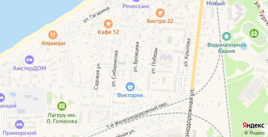 Улица Бровцева в Зеленоградске с номерами домов на карте. Спутник и схема онлайн