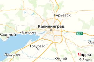 Карта г. Калининград Калининградская область