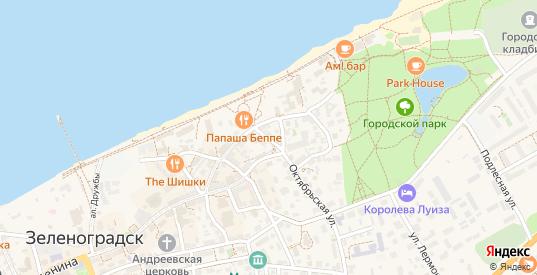 Улица Октябрьский переулок в Зеленоградске с номерами домов на карте. Спутник и схема онлайн