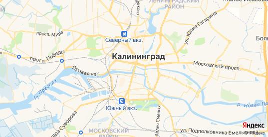 Карта Калининграда с улицами и домами подробная. Показать со спутника номера домов онлайн