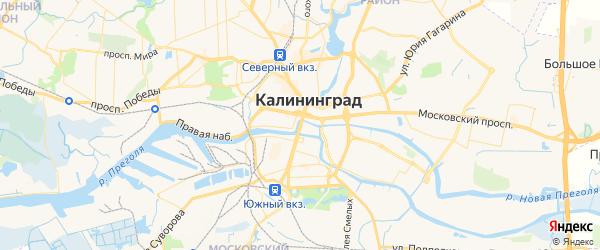 Карта Калининграда с районами, улицами и номерами домов