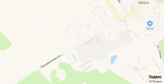 Пограничная улица в Багратионовске с номерами домов на карте. Спутник и схема онлайн