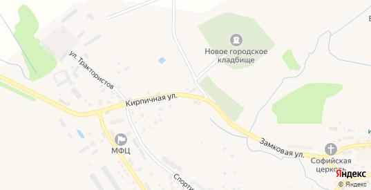 Кирпичная улица в Багратионовске с номерами домов на карте. Спутник и схема онлайн