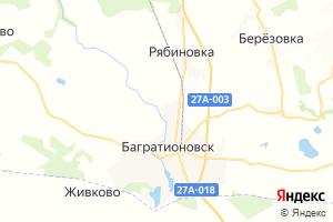 Карта г. Багратионовск Калининградская область
