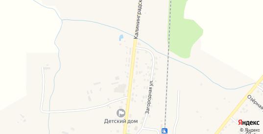 Калининградская улица в Багратионовске с номерами домов на карте. Спутник и схема онлайн