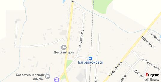 Загородная улица в Багратионовске с номерами домов на карте. Спутник и схема онлайн