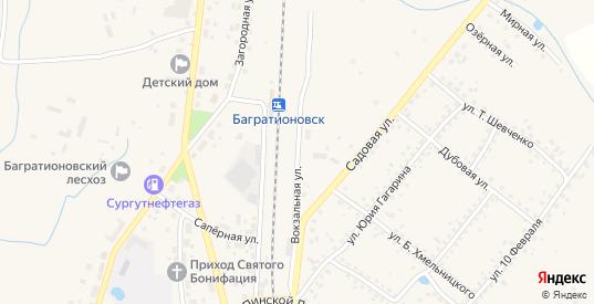 Вокзальная улица в Багратионовске с номерами домов на карте. Спутник и схема онлайн