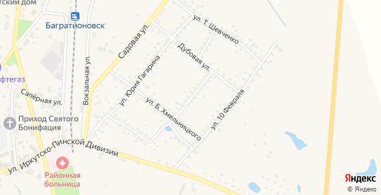 Улица Кутузова в Багратионовске с номерами домов на карте. Спутник и схема онлайн