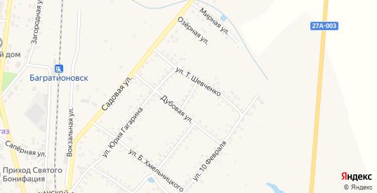 Поперечный переулок в Багратионовске с номерами домов на карте. Спутник и схема онлайн