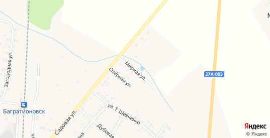 Мирная улица в Багратионовске с номерами домов на карте. Спутник и схема онлайн