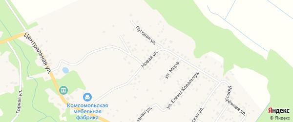 Новая улица на карте поселка Комсомольска Калининградской области с номерами домов