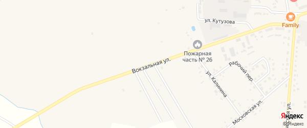 Вокзальная улица на карте Правдинска с номерами домов