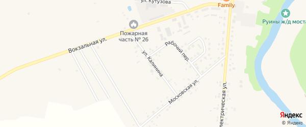 Улица Калинина на карте Правдинска с номерами домов