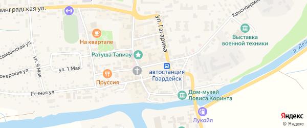 Площадь Победы на карте Гвардейска с номерами домов