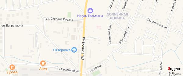 2-я Северная улица на карте Гвардейска с номерами домов
