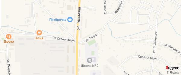 Улица Мира на карте Гвардейска с номерами домов
