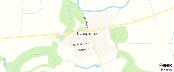 Карта поселка Курортного в Калининградской области с улицами и номерами домов